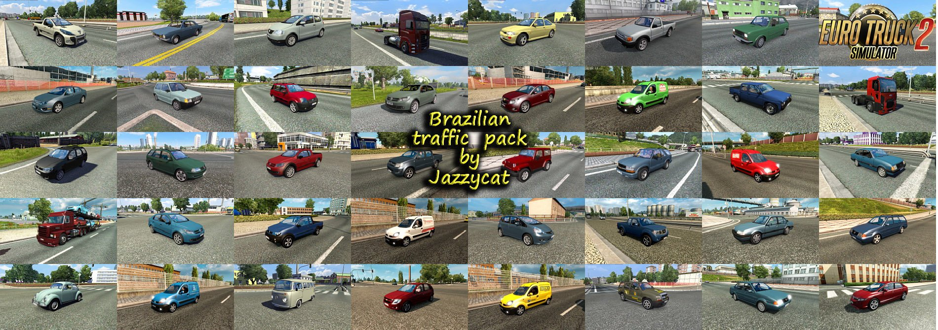 Brazilian Traffic Pack v2.1 by Jazzycat