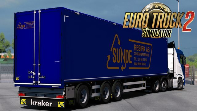 Sunde Resirk AS Trailer Skin for Kraker Walkingfloor by Kast v1.1 (1.30.x)