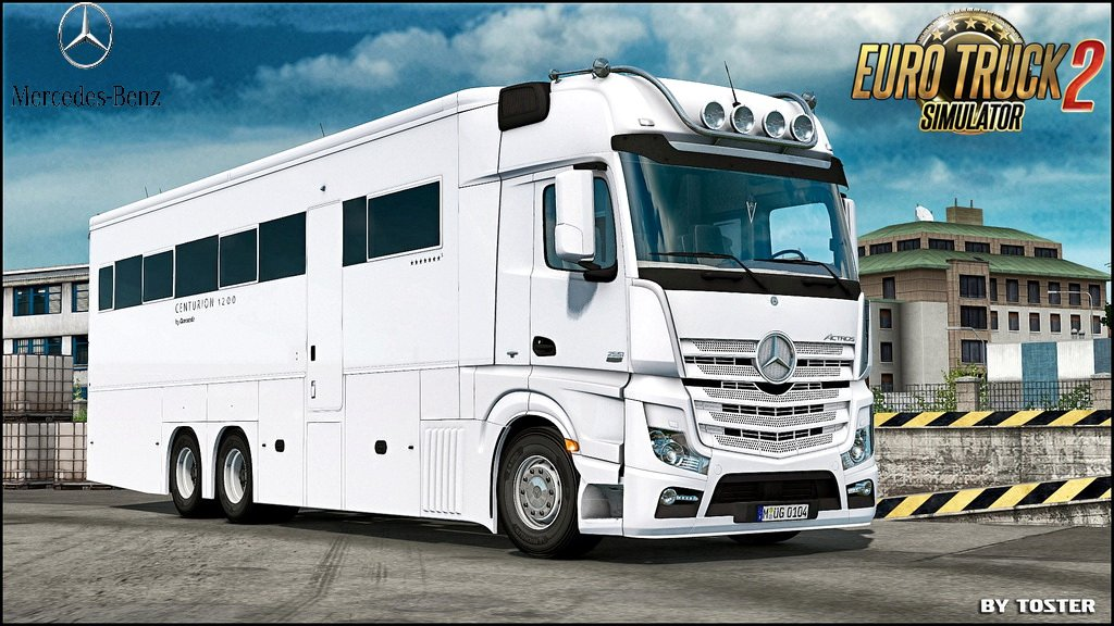 Mercedes Benz MP4 Actros Motorhome v1.0 (1.30.x)