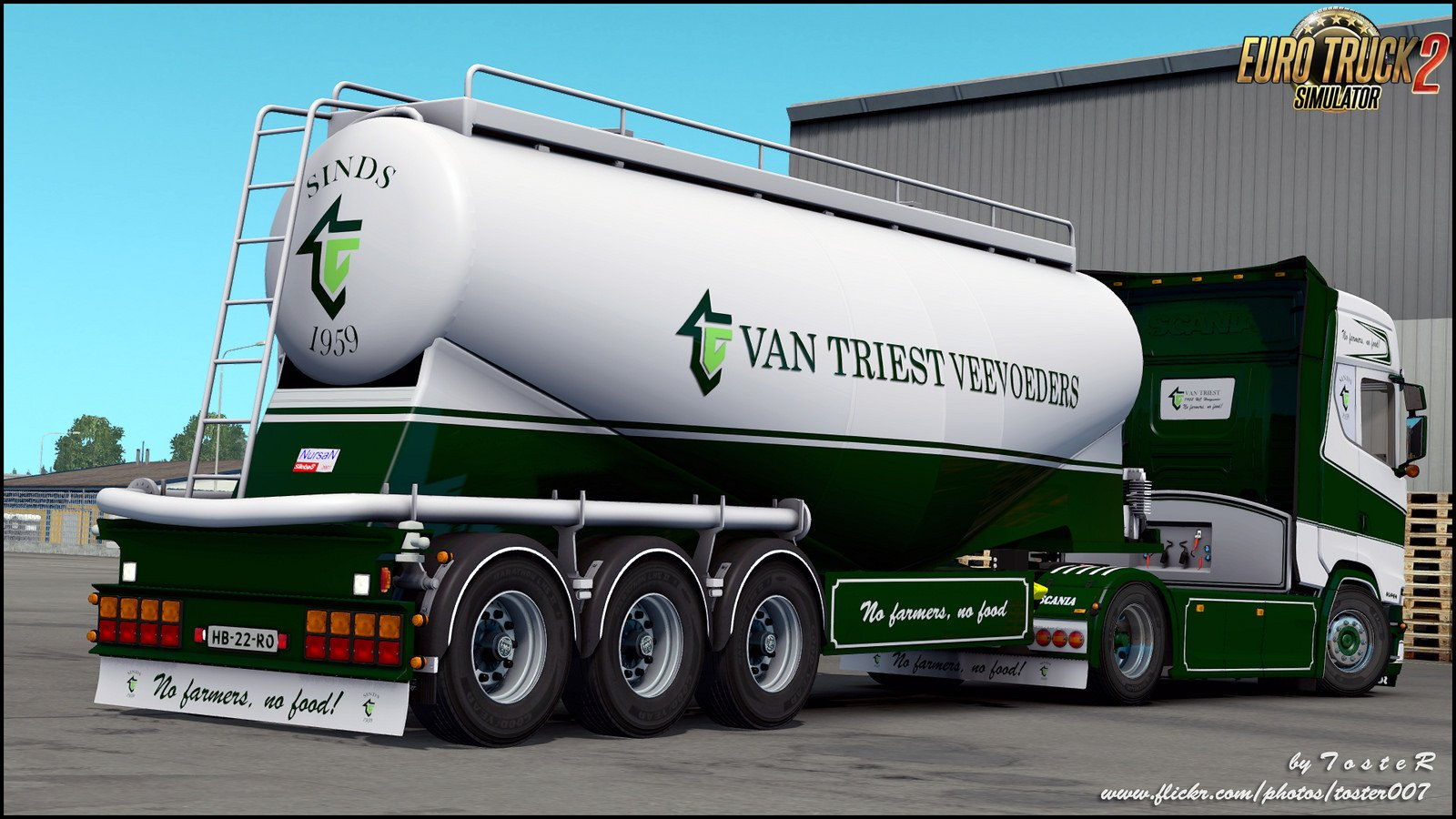 Combo Skin Van Triest for Scania Next Generation + Trailer v1.0 (1.30.x)