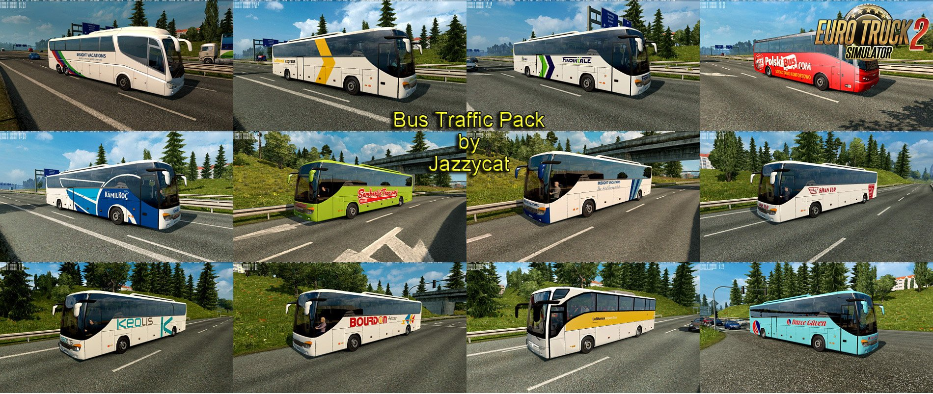 Bus Traffic Pack v3.4 by Jazzycat