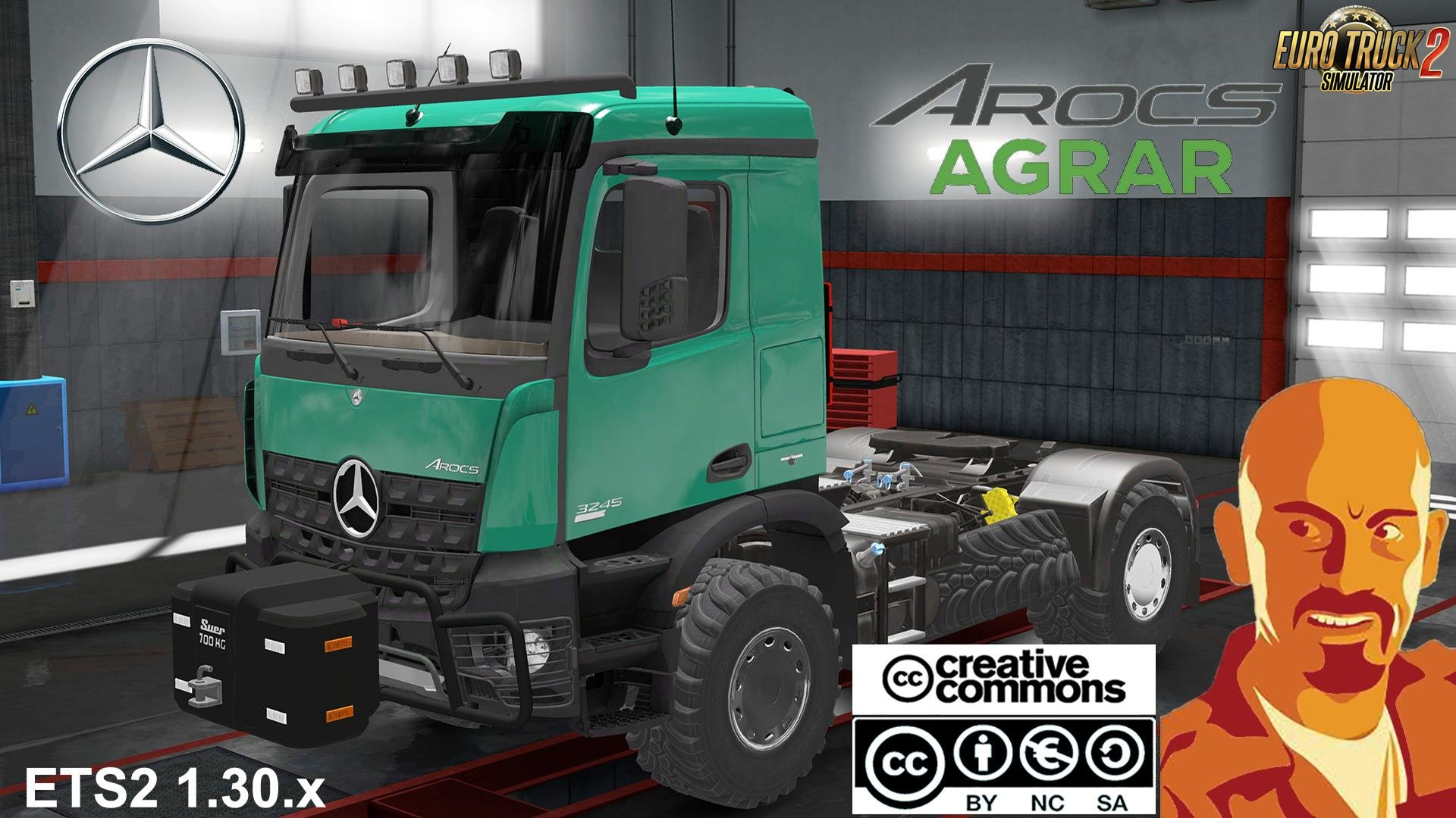 Fixed Mercedes Benz Arocs AGRAR v1.0 by CyrusTheVirus (1.31.x)