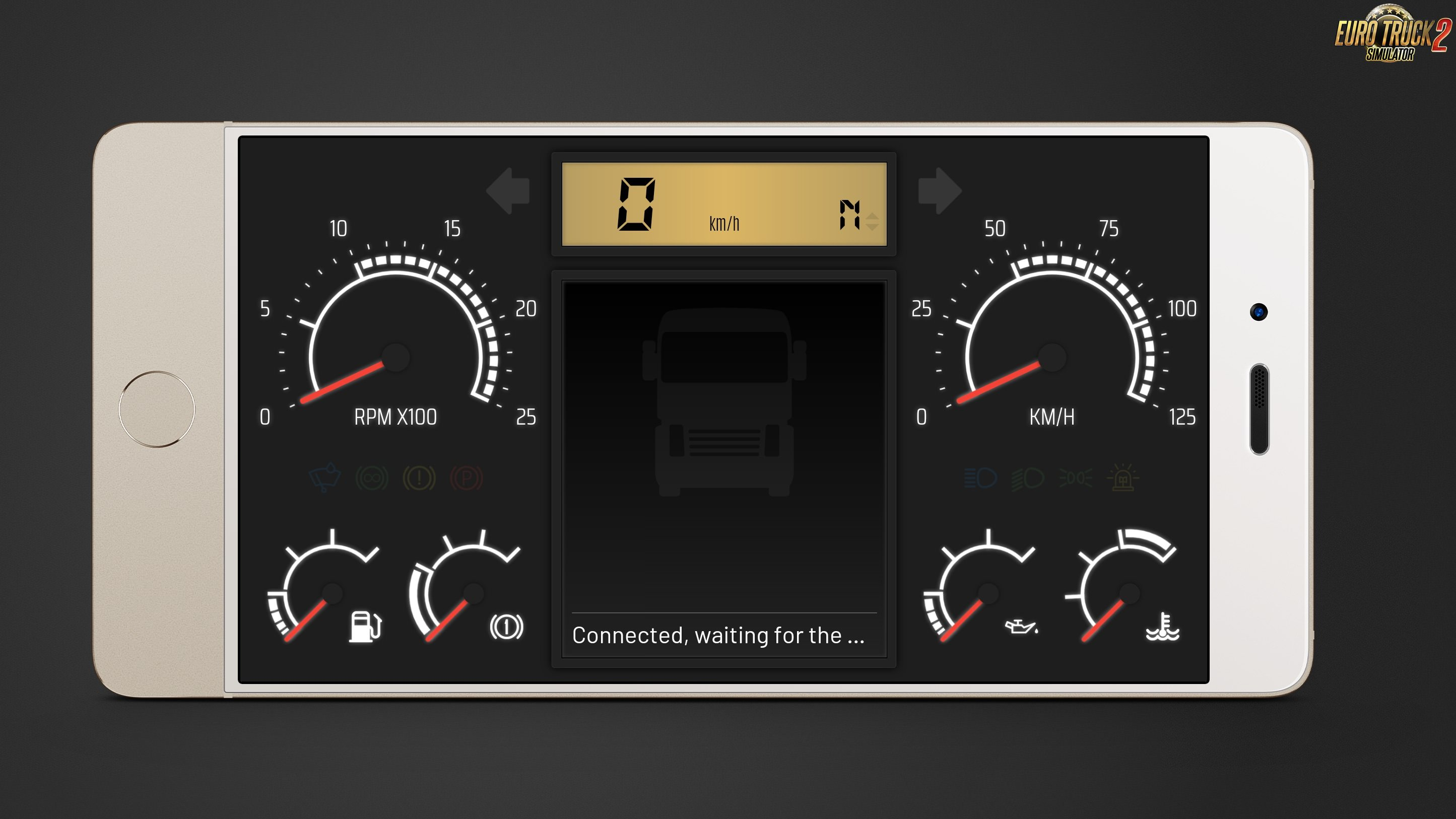 New Dashboard Skin (Telemetry Web Server) for Ets2 and Ats