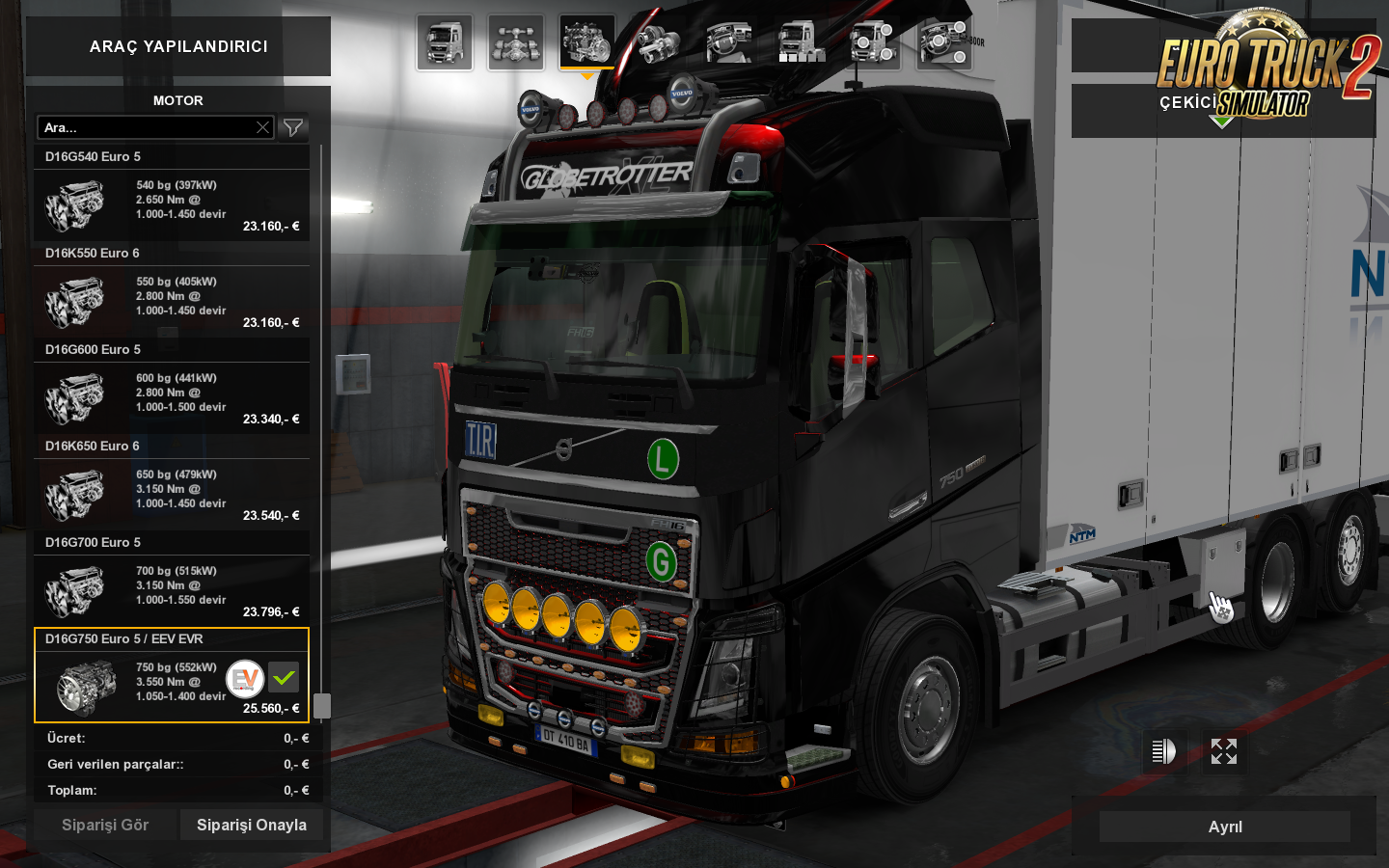 MAN TGA EVR Sound Pack adapted for VOLVO FH750 O'haha