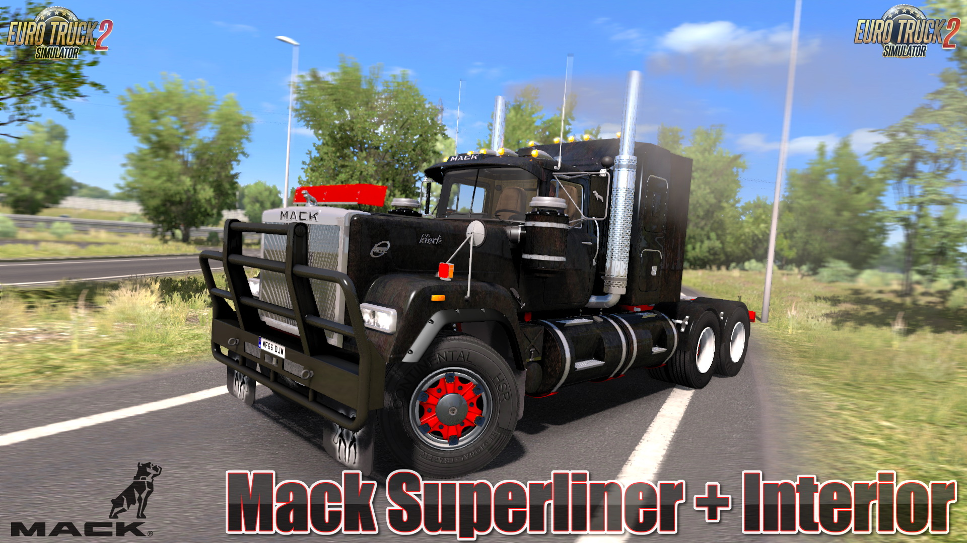 Mack Superliner + Interior v3.5 (1.30.x) - Euro Truck Simulator 2