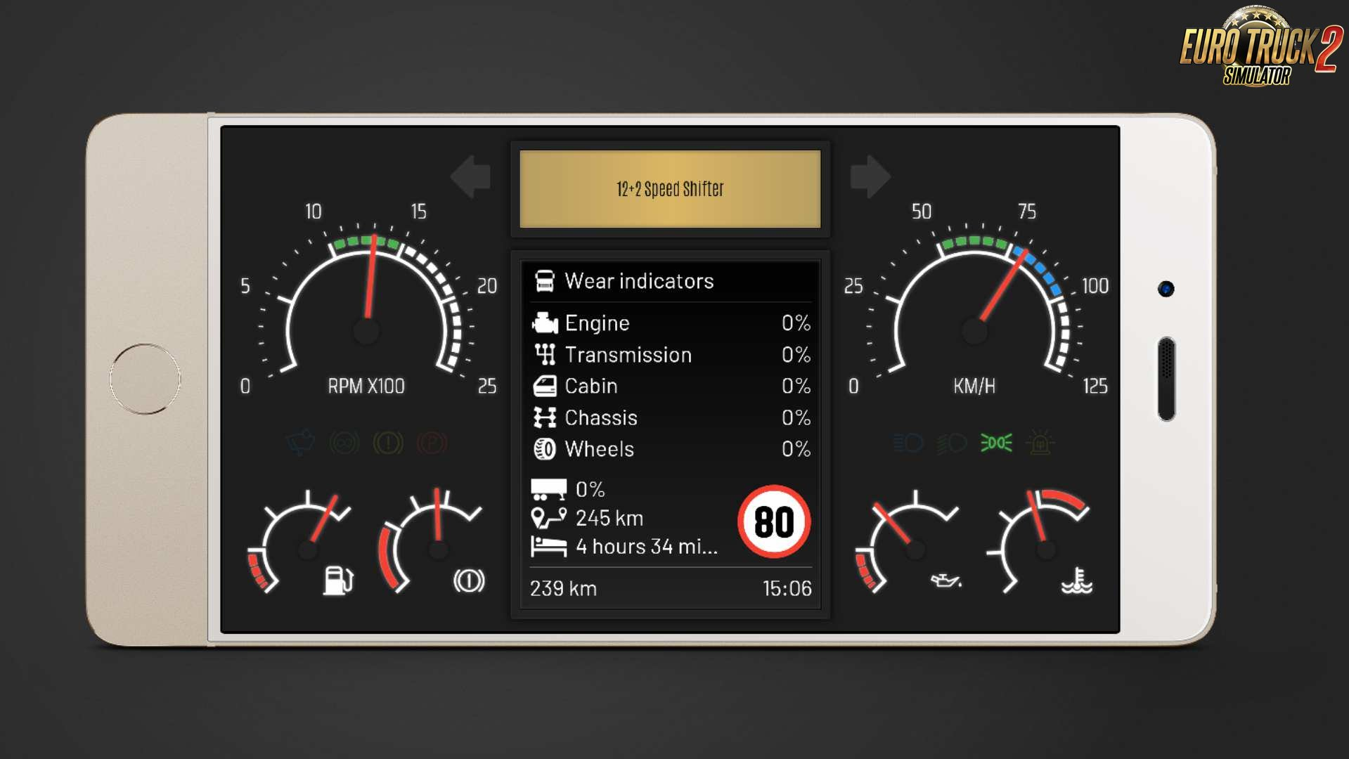New Dashboard Skin (Telemetry Web Server) v1.3 for Ets2 and Ats