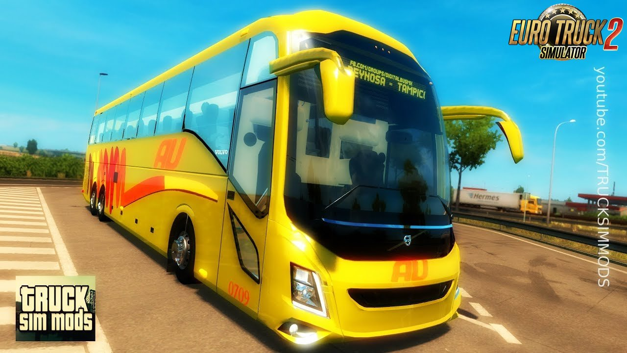 bus volvo 9800 euro truck simulator 2 ets2. Black Bedroom Furniture Sets. Home Design Ideas