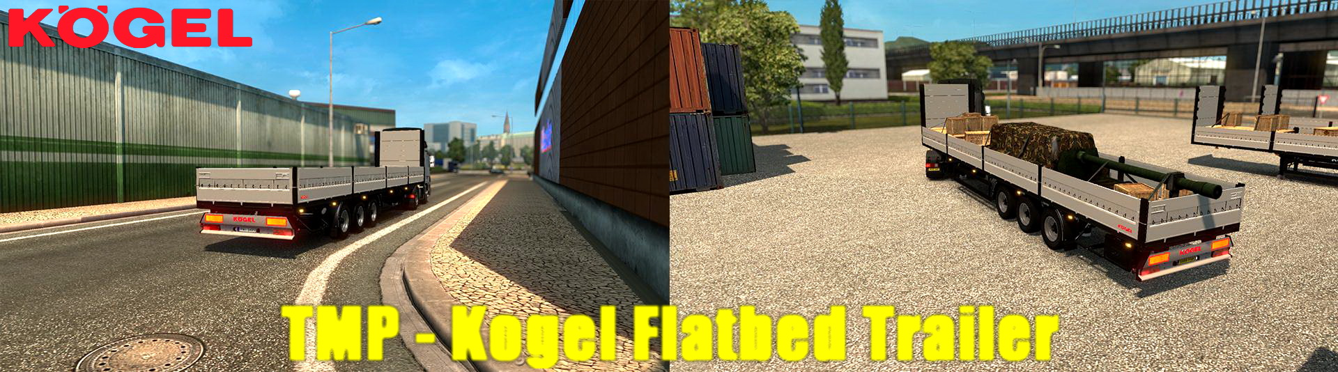 TMP - Kogel Flatbed Trailer v1.2 by satan19990 (1.30.x)