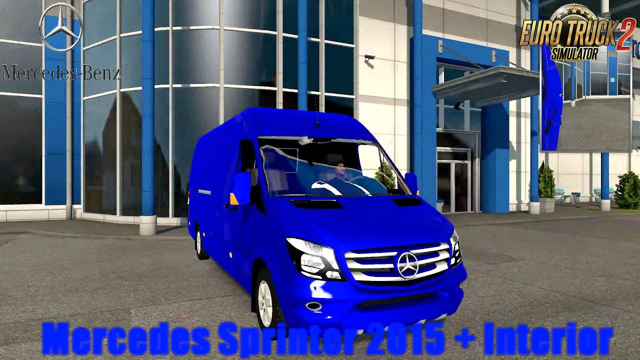 Mercedes Sprinter 2015 + Interior v1.8 (1.34.x)
