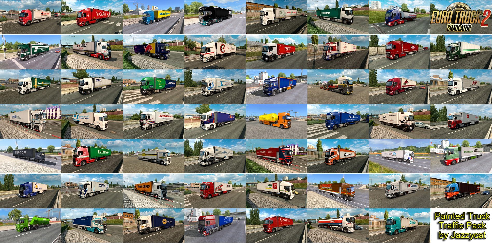 Painted Truck Traffic Pack v5.2 by Jazzycat