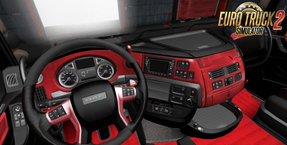 DAF E6 Red Wood Interior by Gile004
