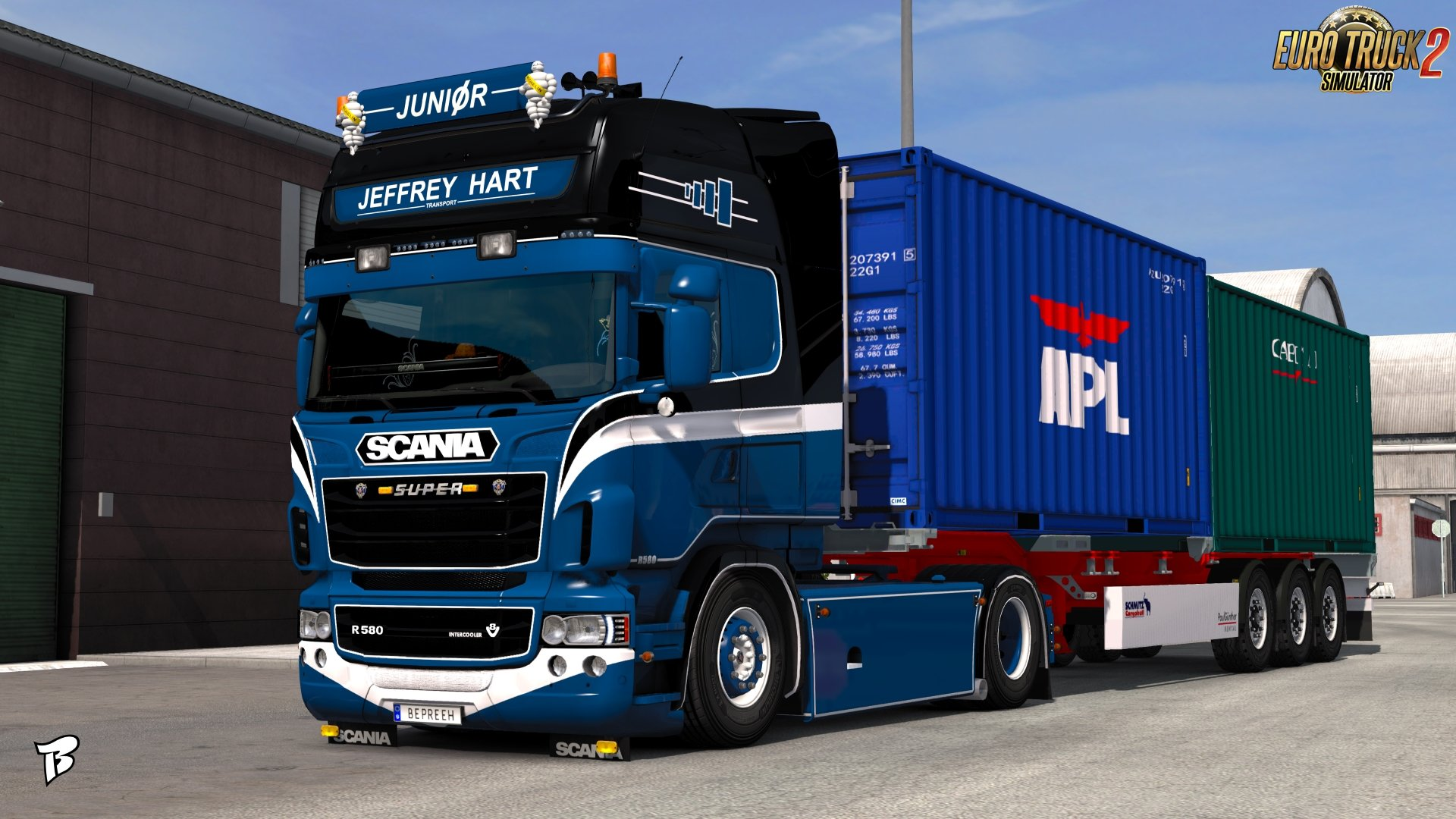 Jeffrey Hart Transport Skin for Scania RJL v1.0 by Bepreeh (1.30.x)