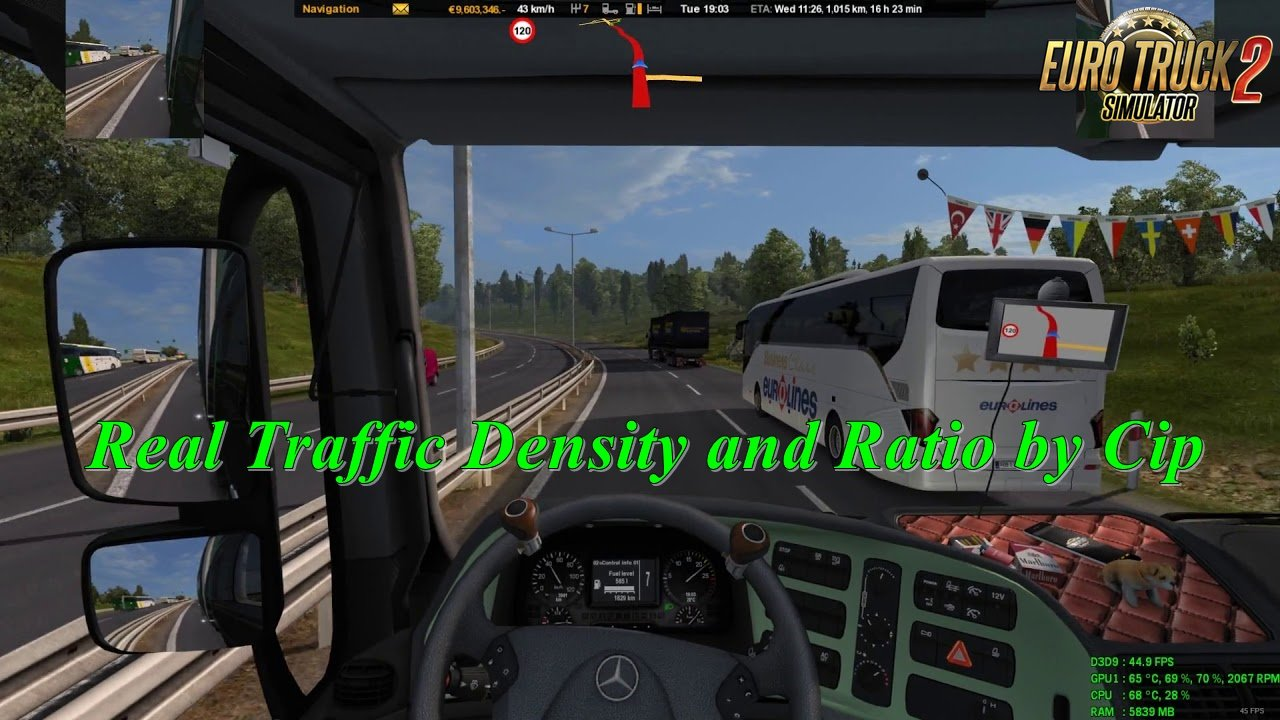 Real Traffic Density and Ratio v1.32.d by Cip (1.32.x)