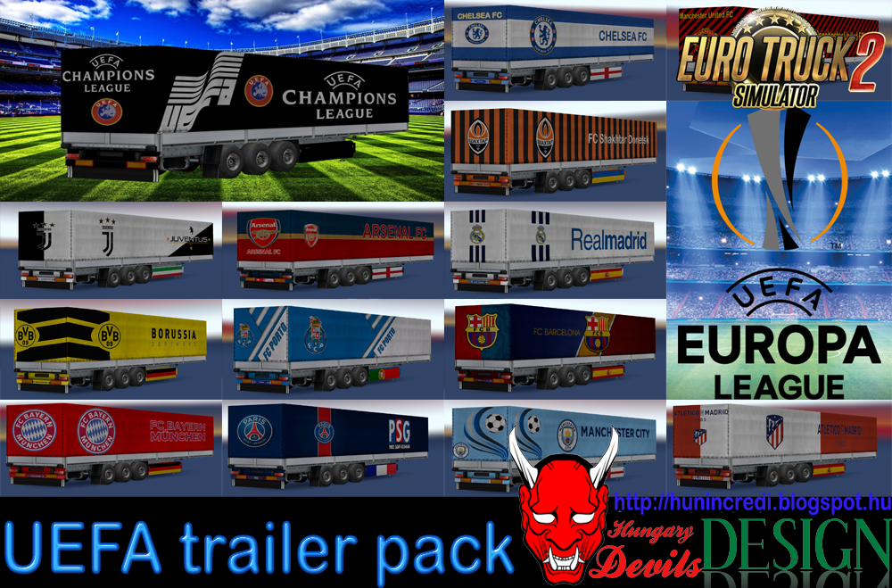 UEFA trailer pack for Ets2