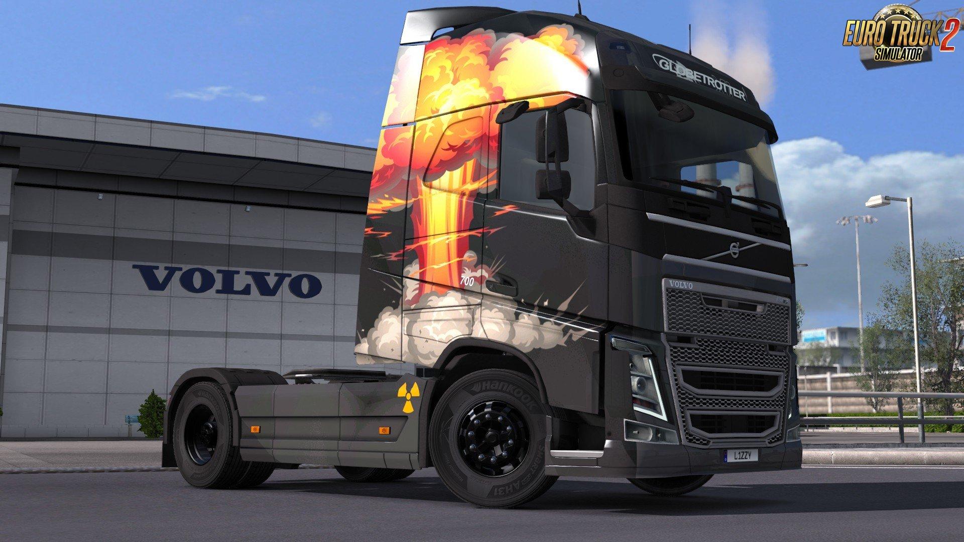 Volvo FH 2012 - Mushroom Cloud Paintjob by l1zzy