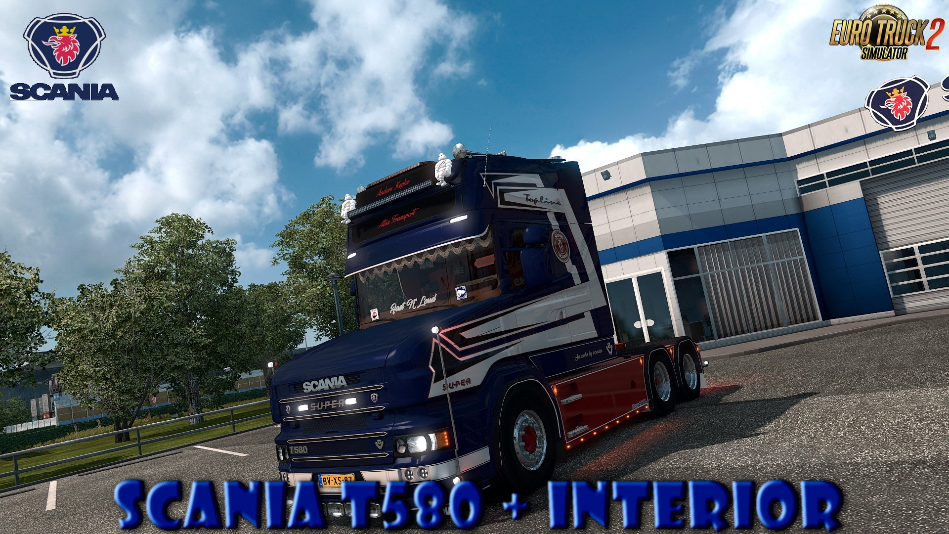 Scania T580 + Interior v1.0 by Caspian Custom Team (1.30.x)
