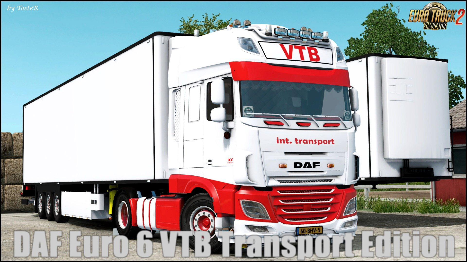 DAF Euro 6 VTB Transport Edition + Trailer v1.0 (1.30.x)