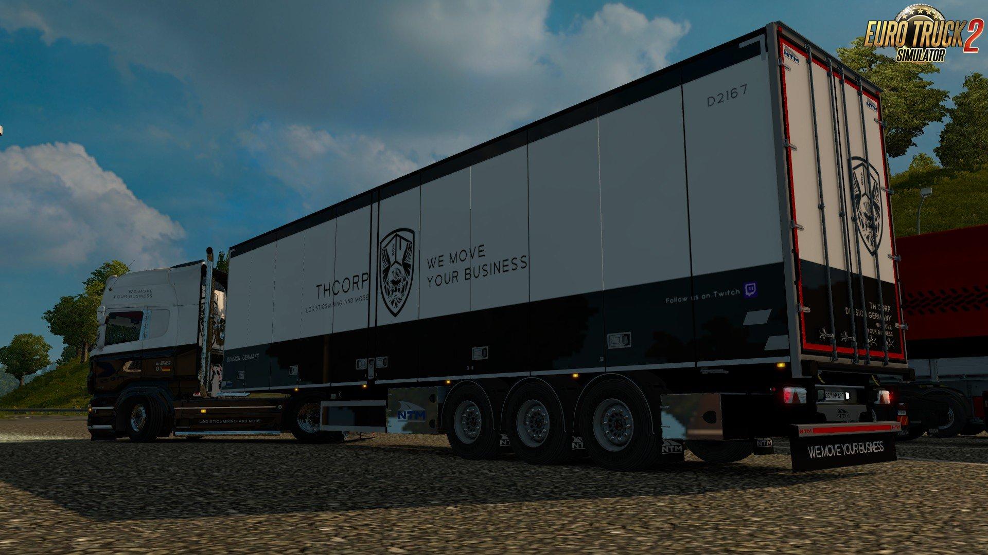 TH- CORPS RJL Scania R & Streamline + Trailer Skin v1.0 (1.30.x)