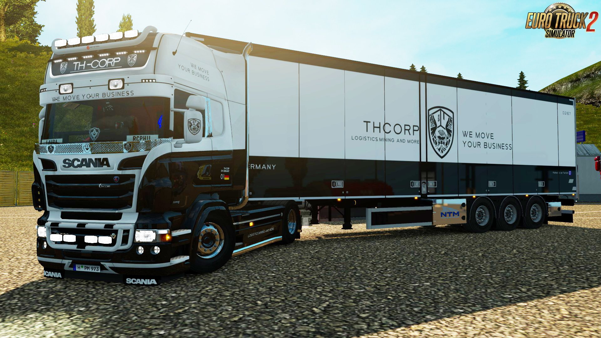 TH- CORPS RJL Scania R & Streamline + Trailer Skin v1.0 (1.30.x)