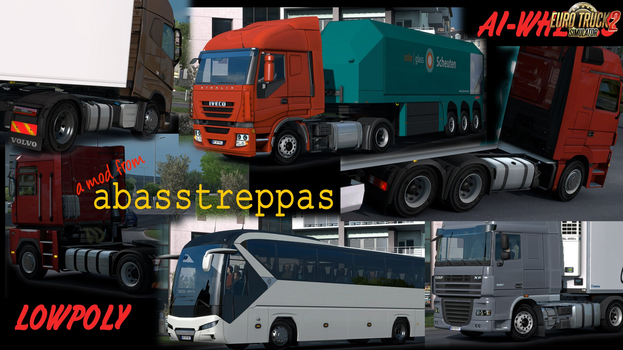 New wheels for all AI-trucks v1.02 for Ets2