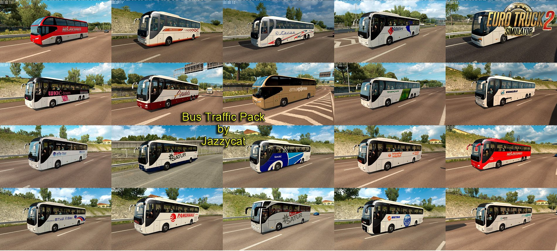 Bus Traffic Pack v3.8 by Jazzycat