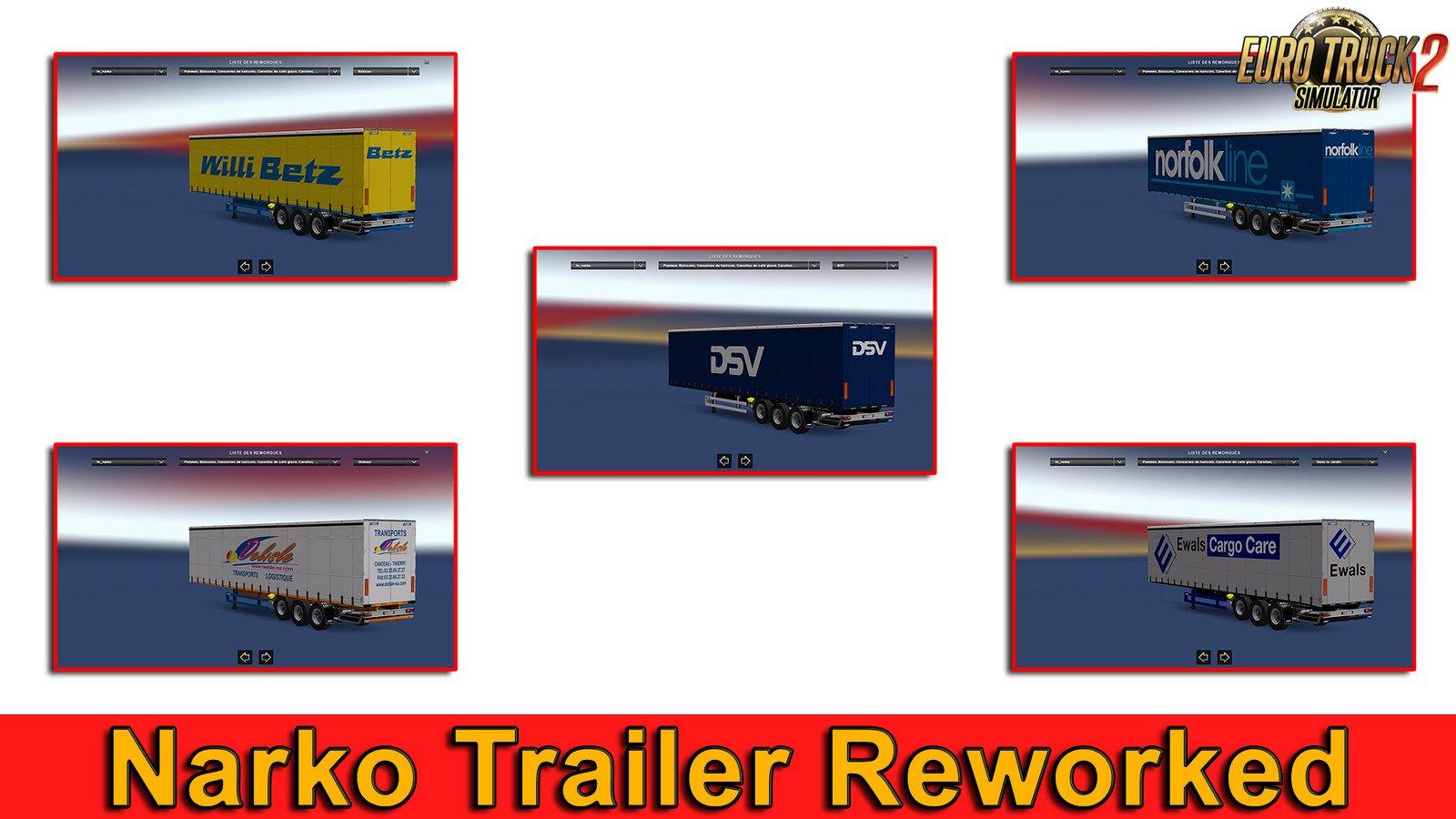 Narko trailer reworked v1.30 for Ets2
