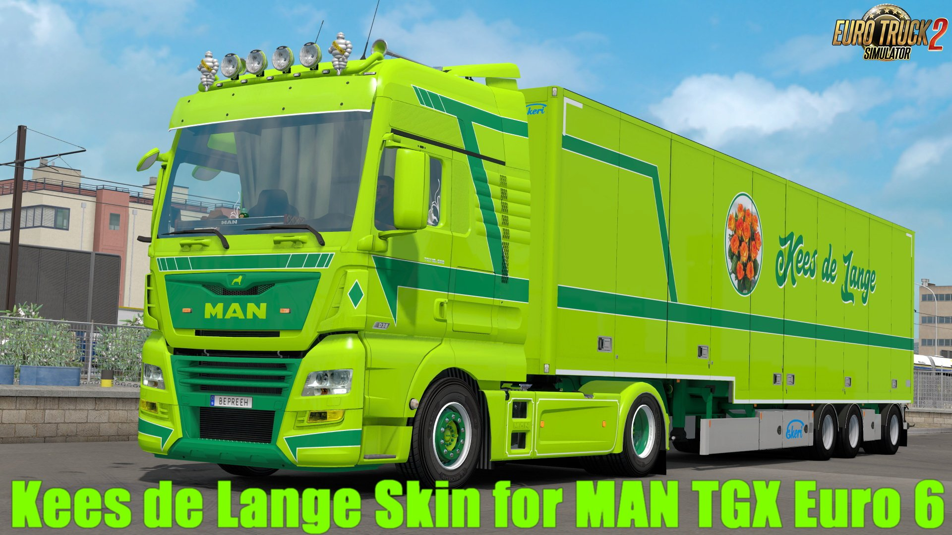Kees de Lange Skin for MAN TGX Euro 6 v2.0 by Bepreeh (1.30.x)