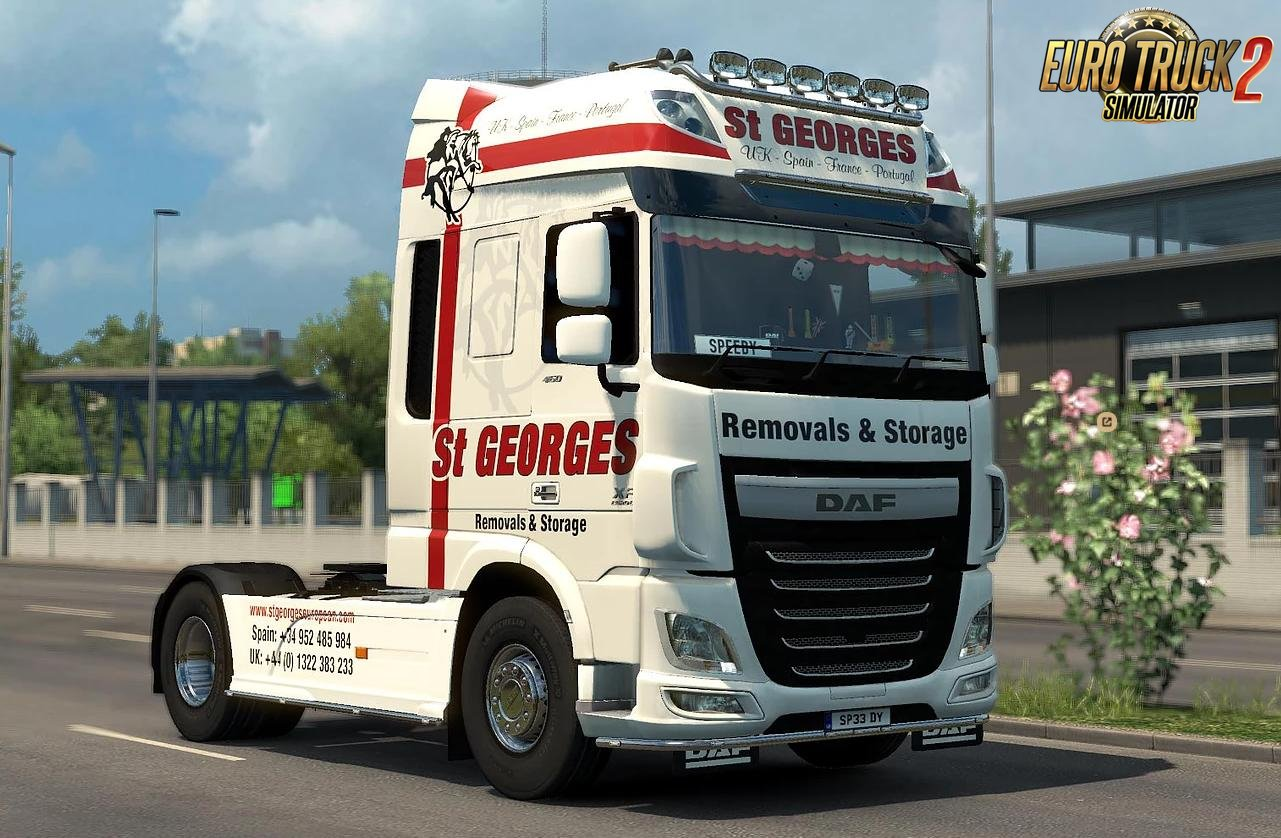 Skin ST. Georges Removals for DAF Euro 6 v1.0 by Speedy143 (1.30.x)