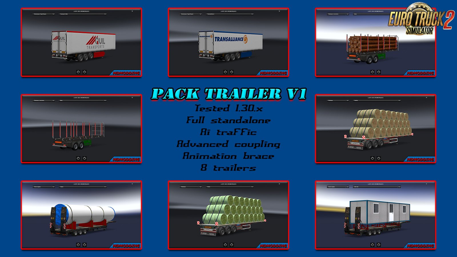 Pack Trailer v1 for Ets2
