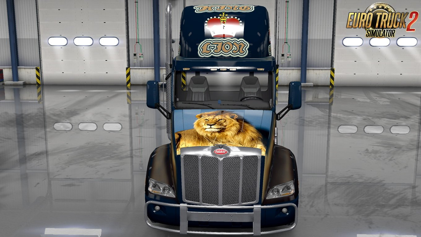 King Lion Skin for Peterbilt 579 v1.0 by Ykut700 (1.30.x)