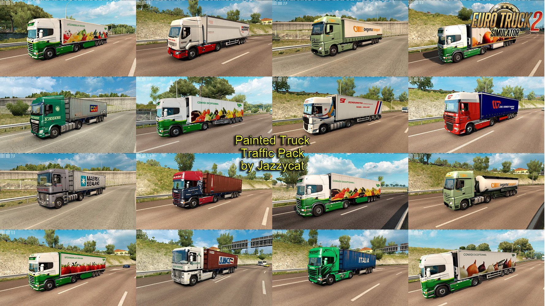 Painted Truck Traffic Pack v5.4 by Jazzycat