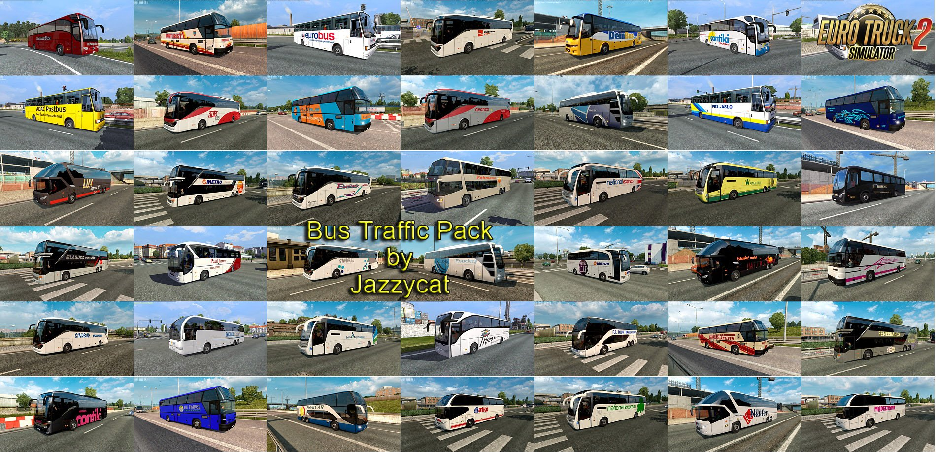 Bus Traffic Pack v3.9 by Jazzycat