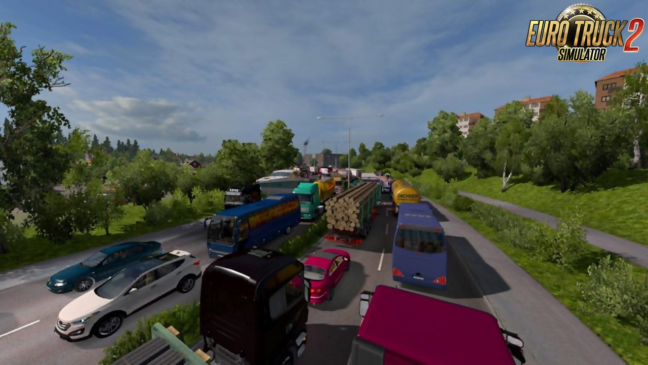 Updated Greatest Traffic Mod v16 by adi2003de for Ets2