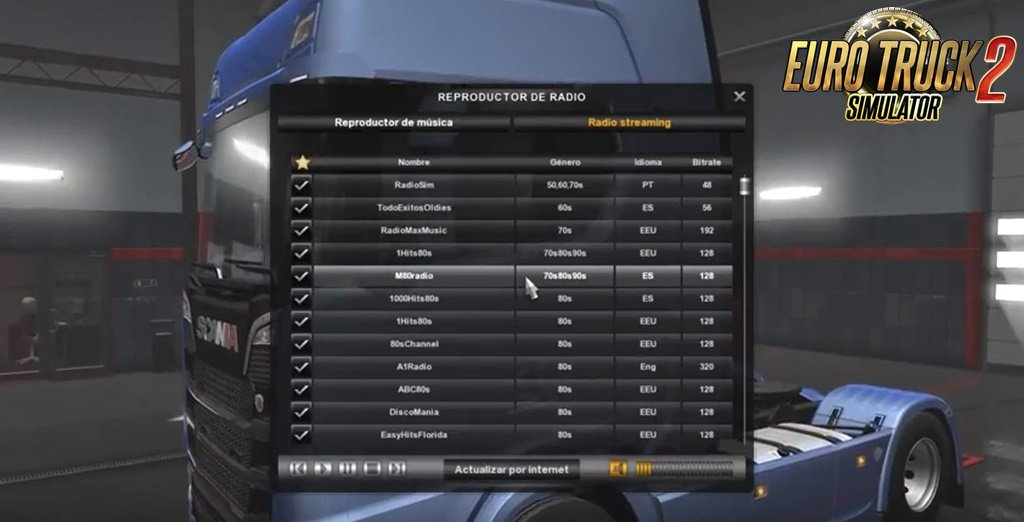 Radio Stations v4.0 for Ets2