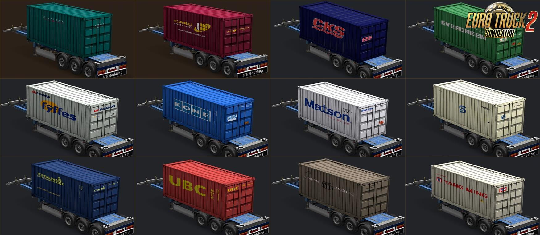 Containers of real companies v02 for Ets2