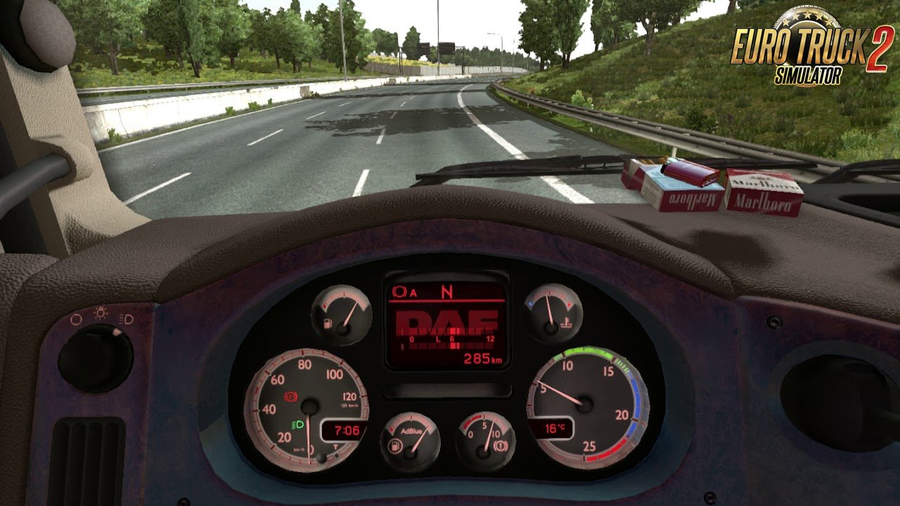 New Custom Dashboard for DAF XF 105