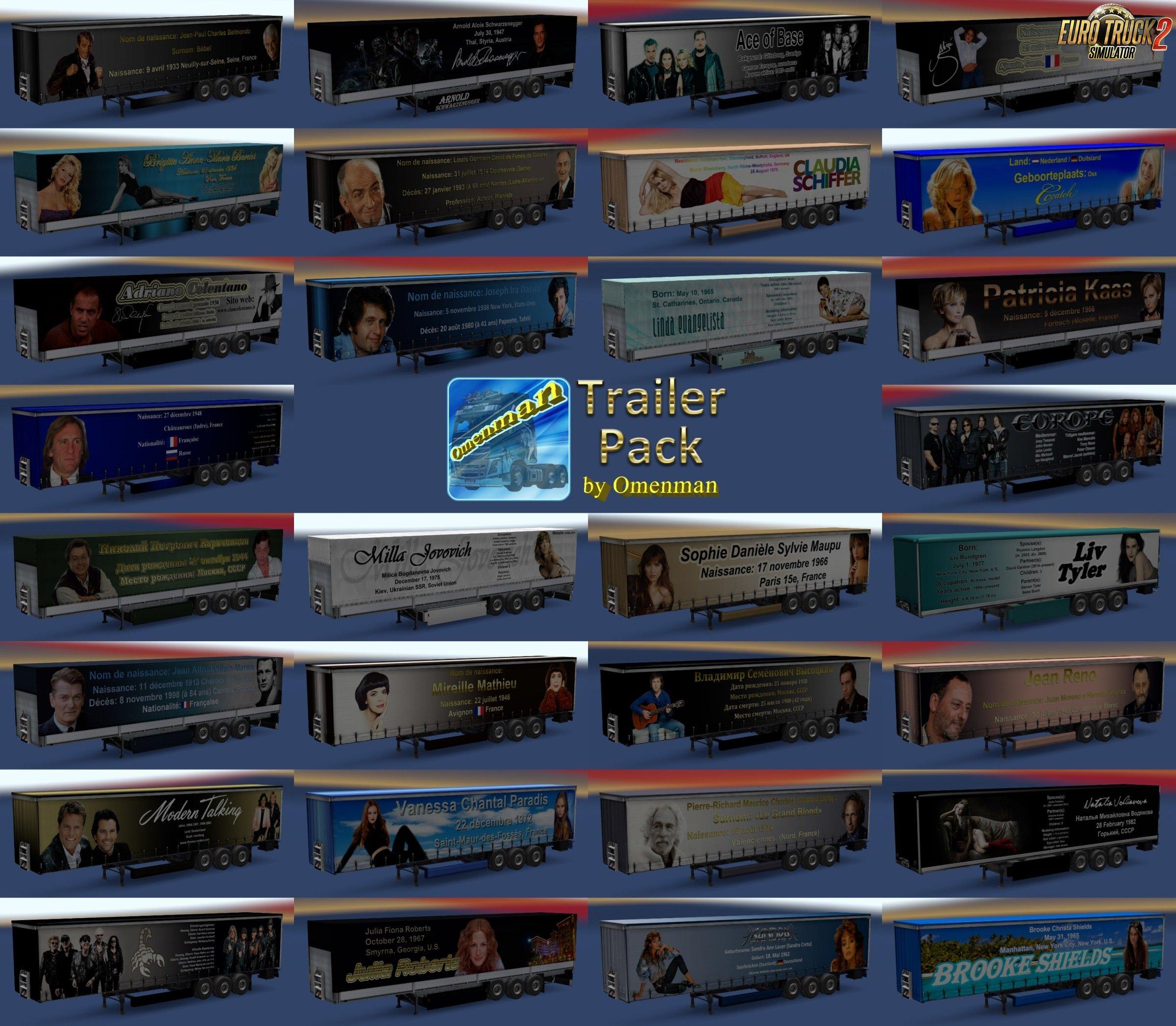 Trailer Pack Stars v 1.04 for Ets2