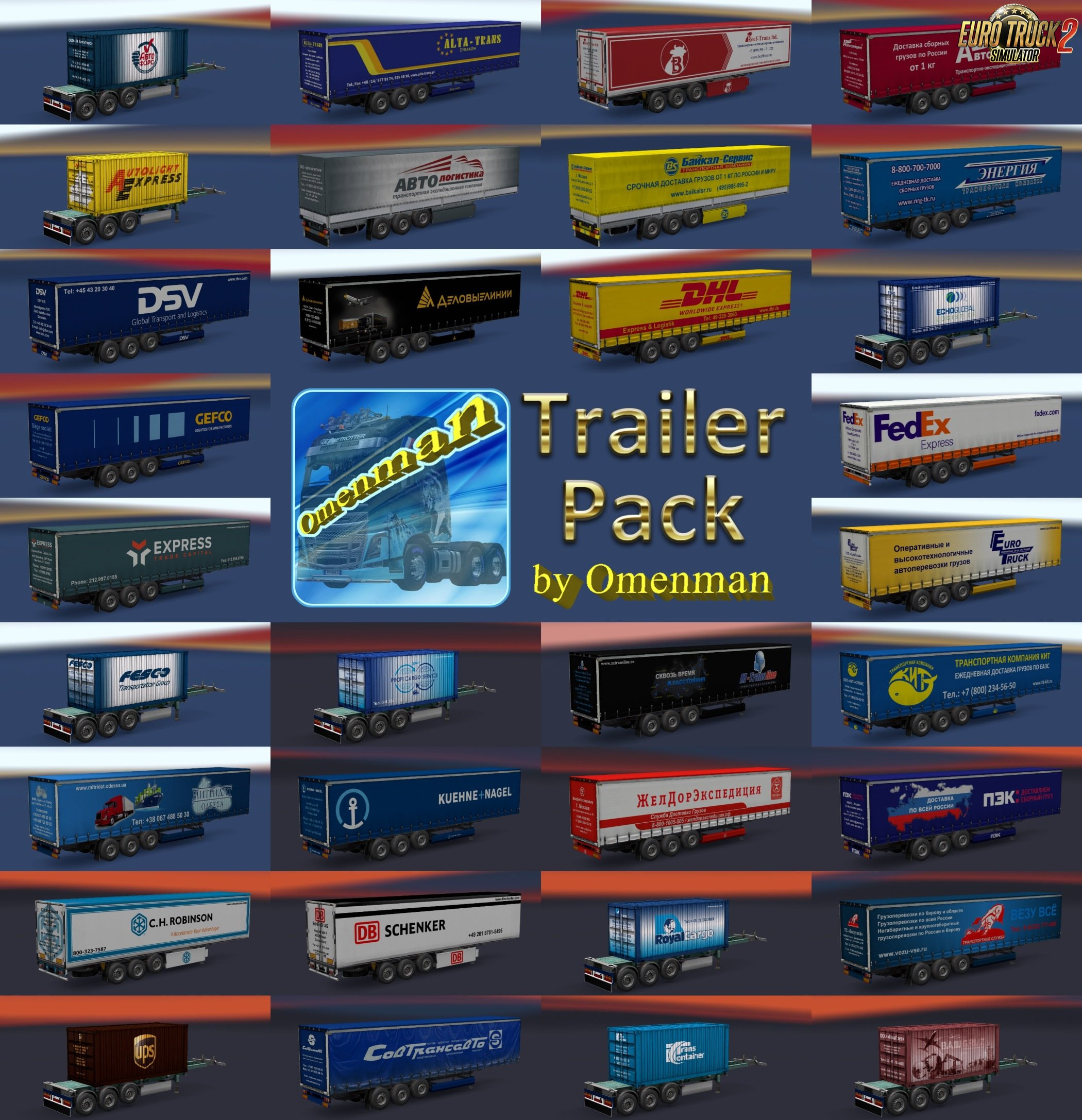 Trailer Pack Logistic v1.04 for Ets2