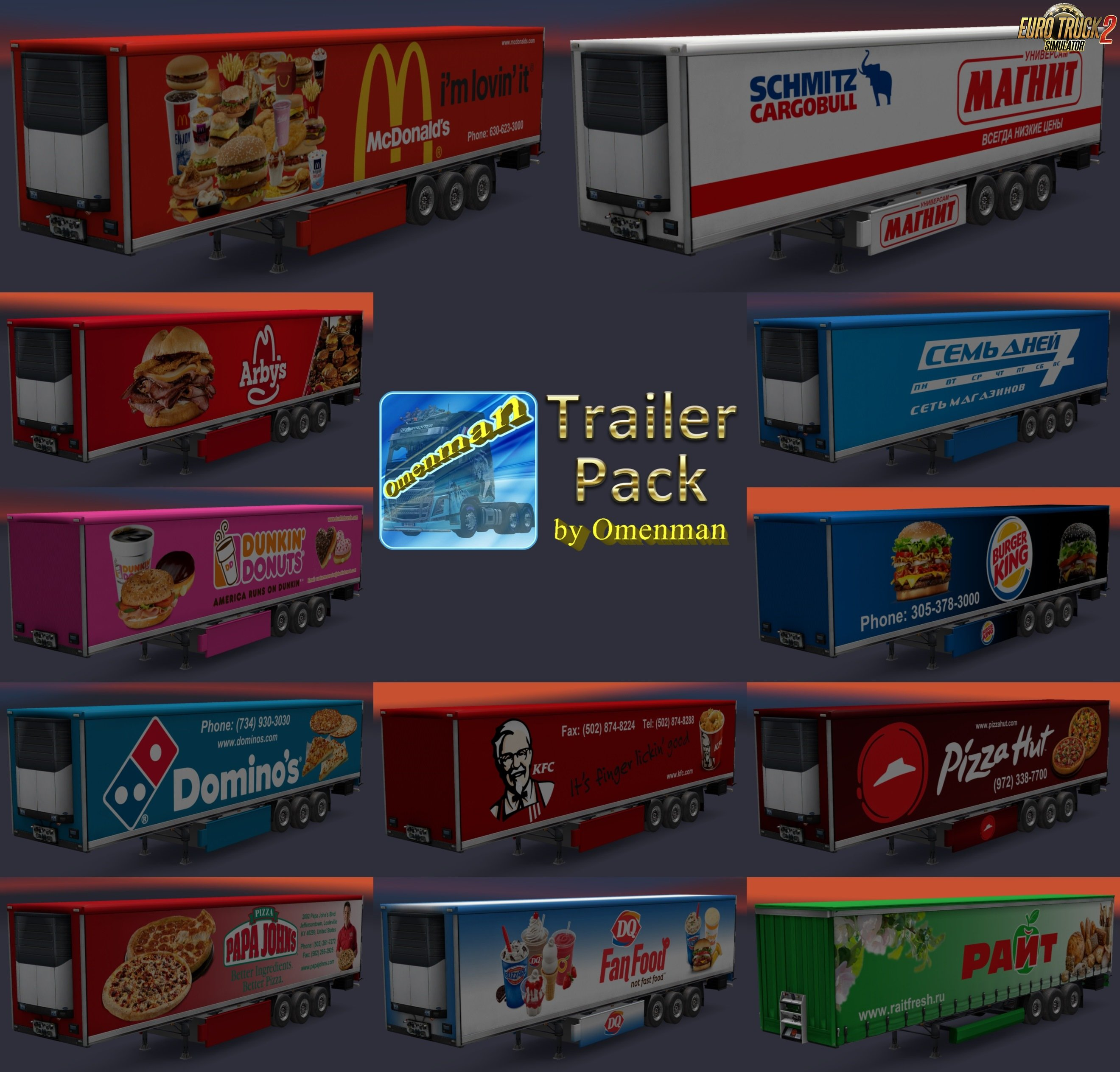 Trailer Pack Foods v1.02.00 for Ets2
