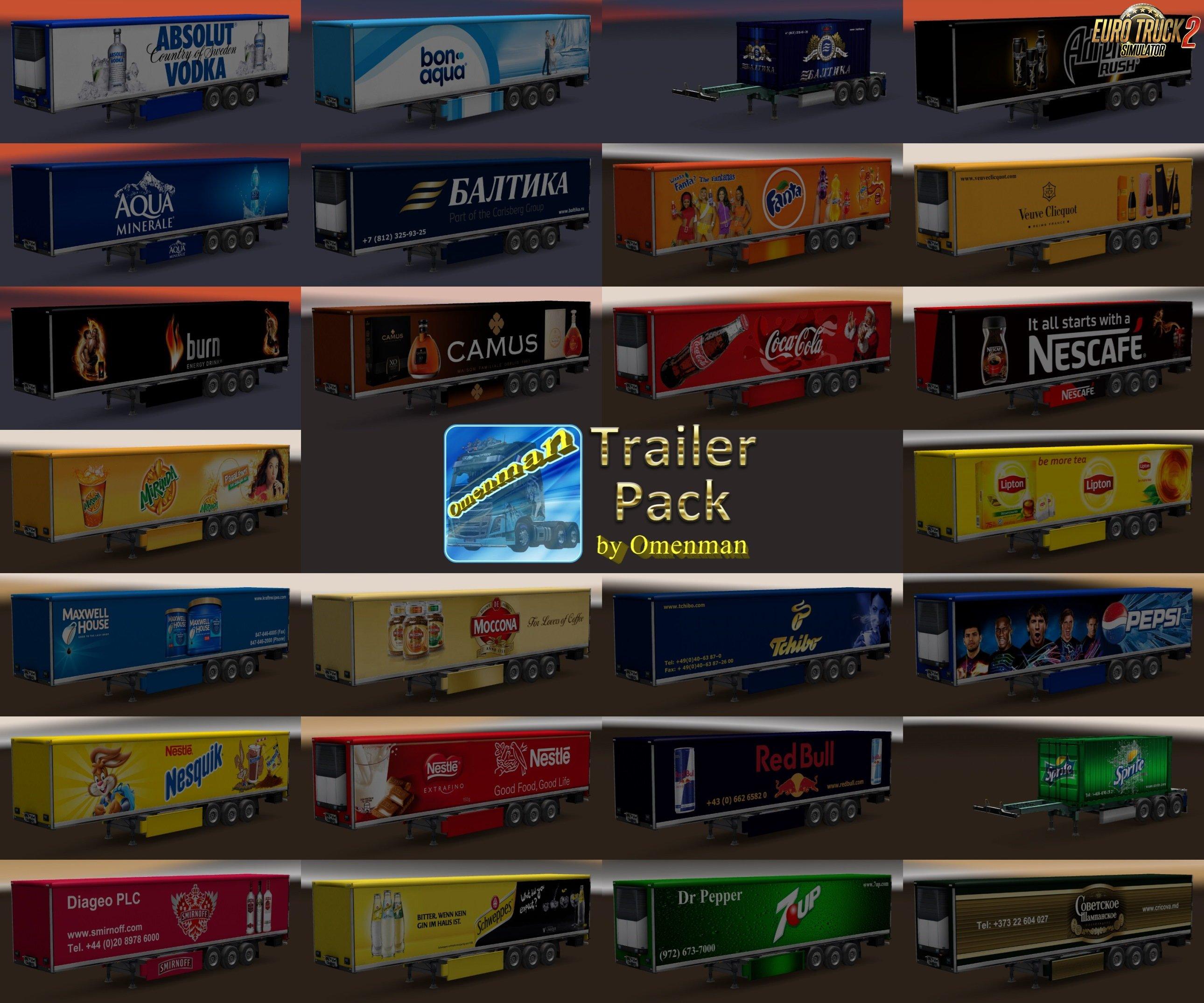 Trailer Pack Drinks v1.02.00 for Ets2