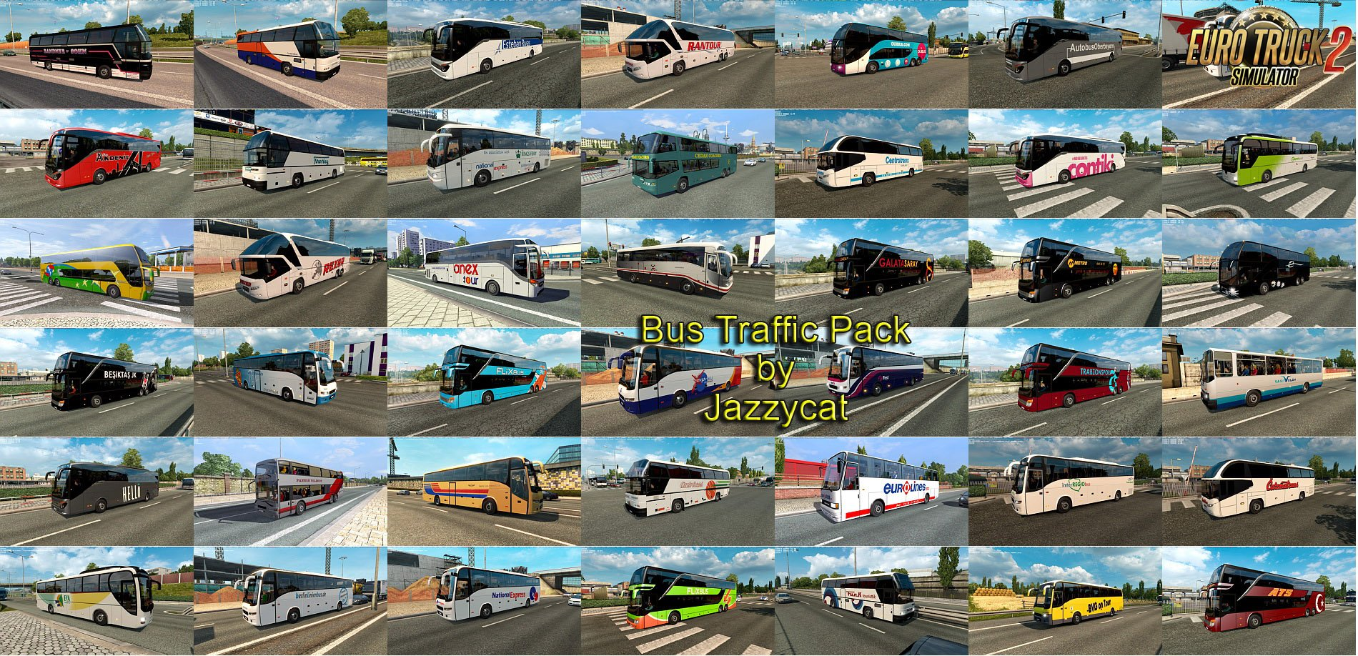 Bus Traffic Pack v4.1 by Jazzycat