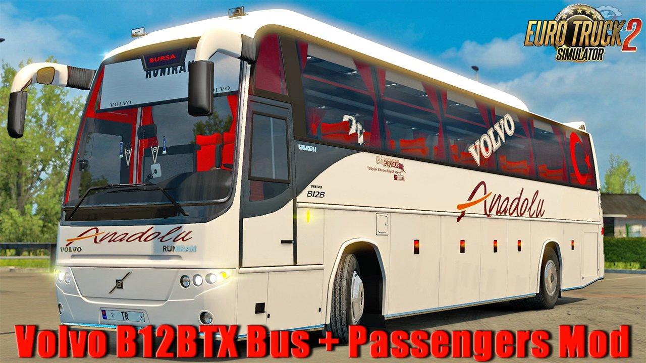Volvo B12BTX Bus + Passengers Mod v1.0 (1.30.x)