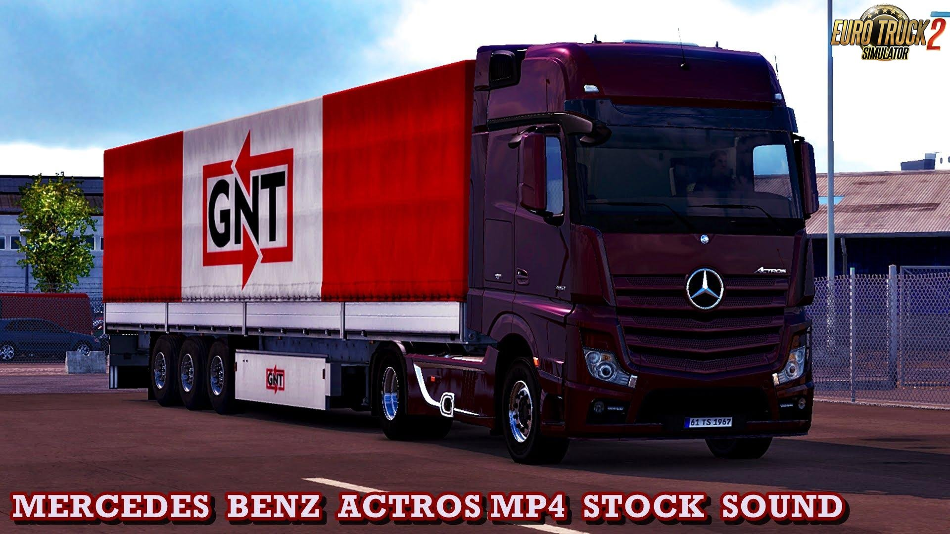 Mercedes Actros MP4 Stock Sound Mod v1.0 (1.31.x)