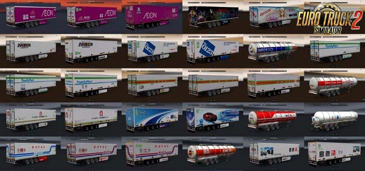 Japan Company Trailer Pack v1.0 for Ets2