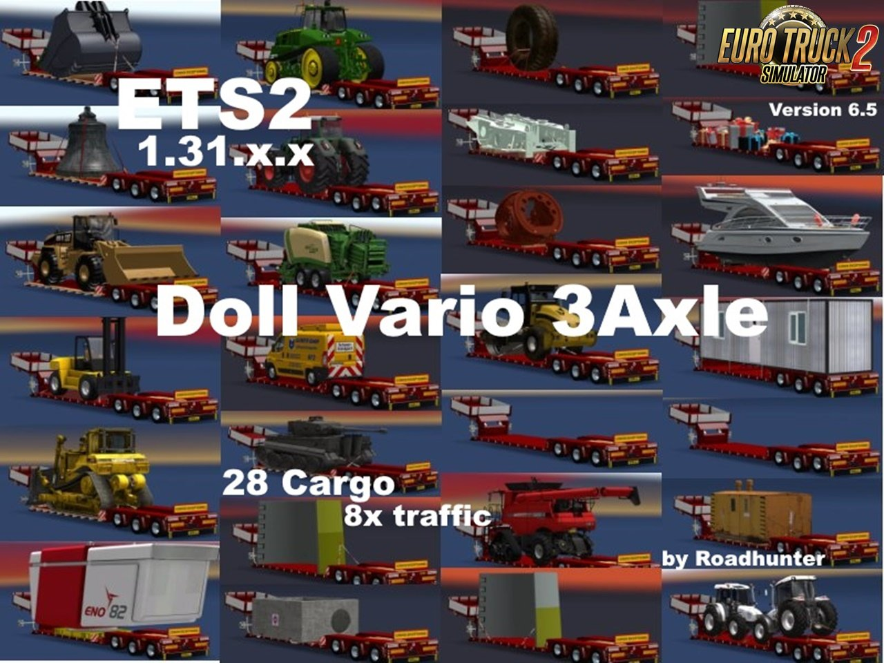 Doll Vario 3Achs with new backlight and in Traffic v6.5.1 by Roadhunter