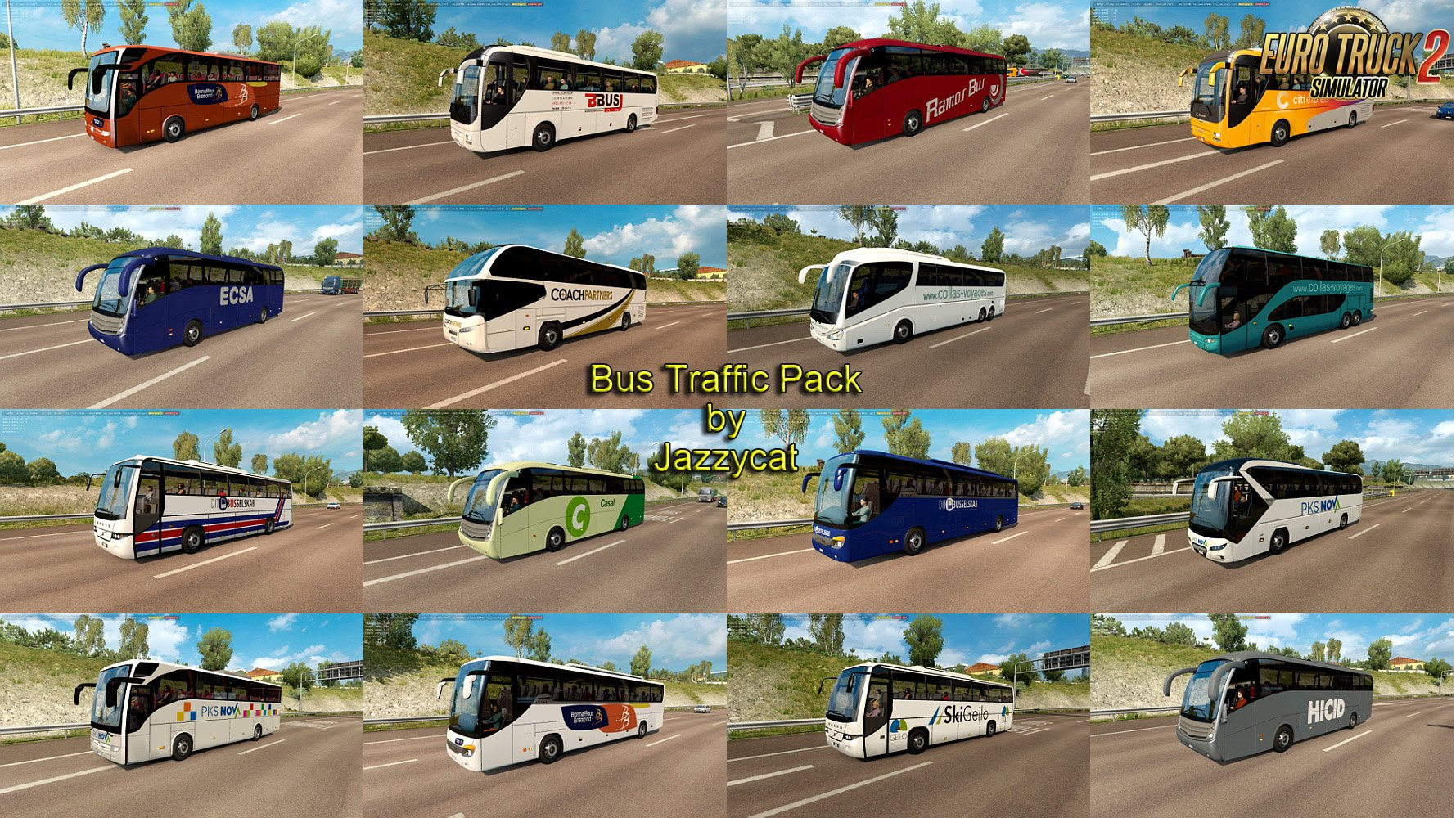 Bus Traffic Pack v4.2 by Jazzycat