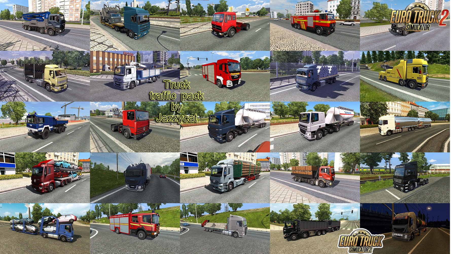 Truck Traffic Pack v3.0 by Jazzycat