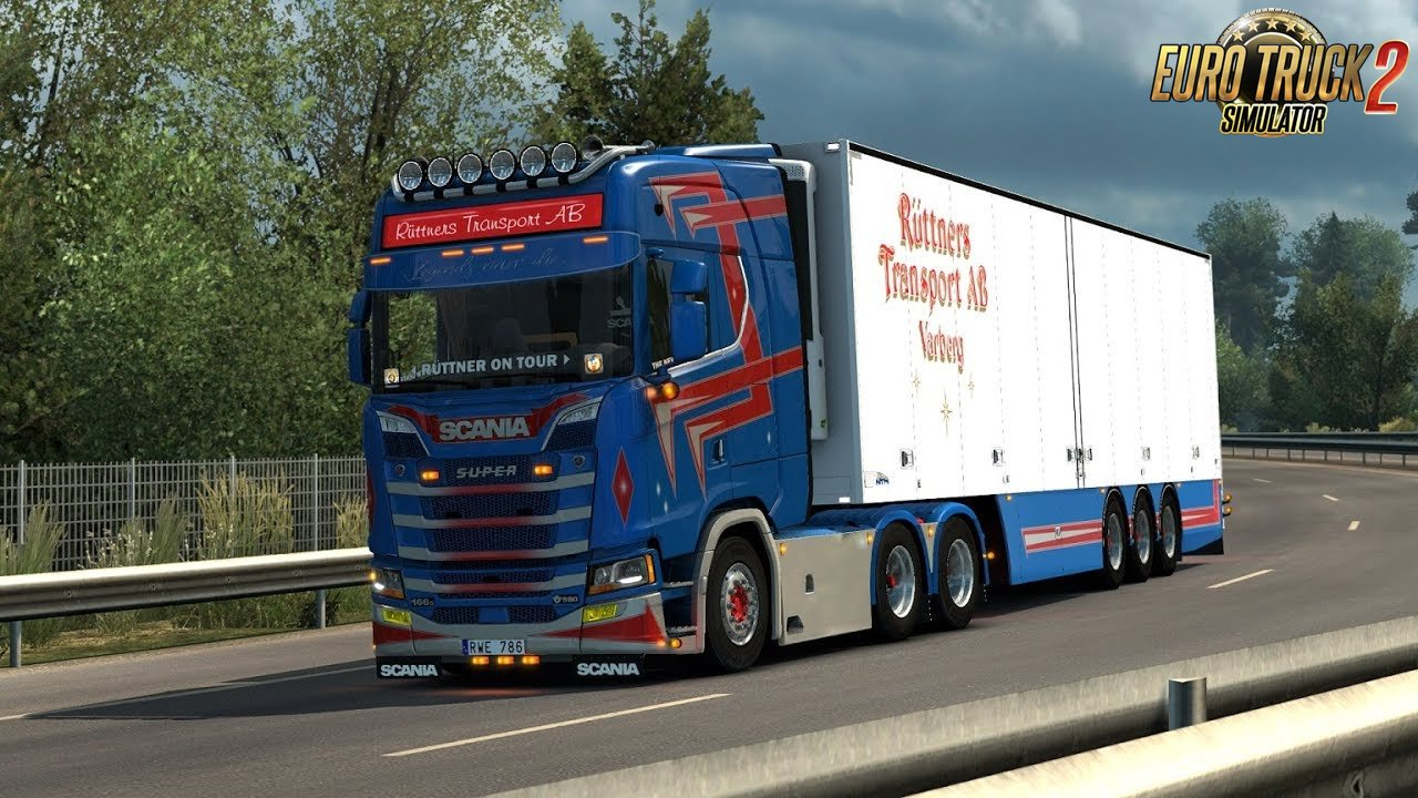Scania New Gen open pipe V8 sound mod for Ets2
