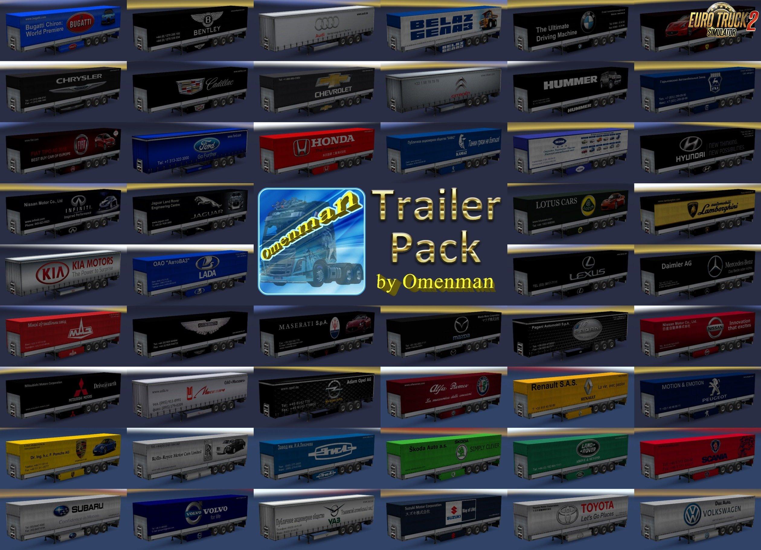 Trailer Pack Cars v.1.02.01 for Ets2