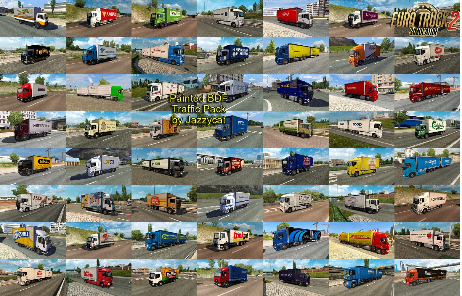 Painted BDF Traffic Pack v3.1 by Jazzycat